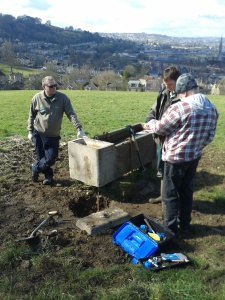 Fixing leaking troughs on Bathwick Fields